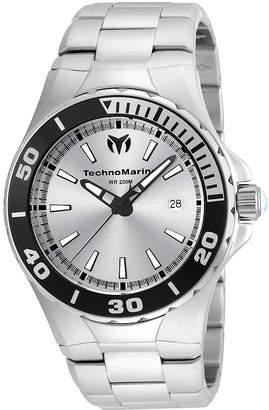Technomarine TECHNO MARINE Techno Marine Mens Silver Tone Bracelet Watch-Tm-215048