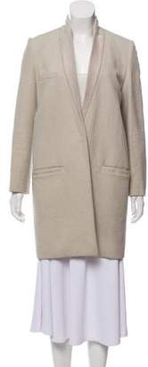 Isabel Marant Ponyhair-Accented Wool Coat