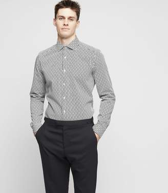 Reiss Tonia Slim-Fit Broken Pinstripe Shirt