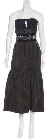 pradaPrada Hardware-Embellished Tiered Dress