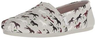 Skechers BOBS Women's Bobs Plush-Pony Up. Wild Horsees Slip on Ballet Flat