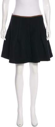 Ralph Lauren Wool Flared Mini Skirt