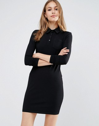 ASOS Long Sleeve Polo Shirt Dress $33 thestylecure.com