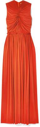Jason Wu Collection - Ruched Stretch-jersey Gown - Bright orange