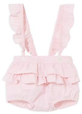 Jacadi Girls' Striped Ruffled Bloomers - Baby