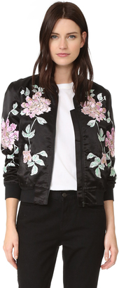 3x1 Satin Bomber Jacket $655 thestylecure.com