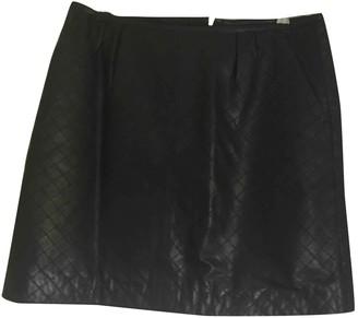 Pablo Black Leather Skirt for Women