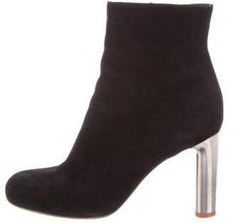 Celine Round-Toe Suede Ankle Boots