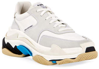 Balenciaga Nubuck Lace-Up Trainer Sneakers