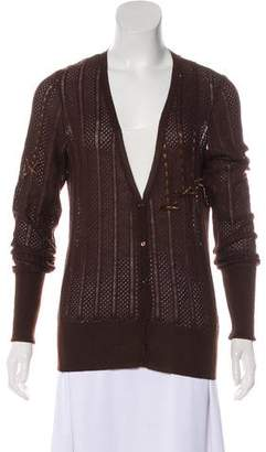 John Galliano Wool Knit Cardigan