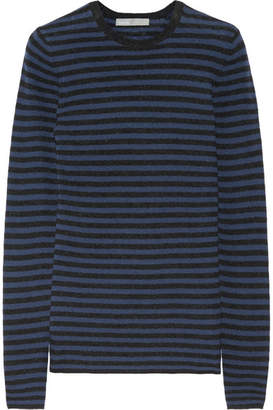 Vince - Striped Cashmere Sweater - Navy $265 thestylecure.com