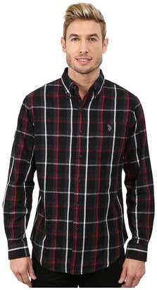 U.S. Polo Assn. Button Down Plaid Twill Shirt Men's Long Sleeve Button Up