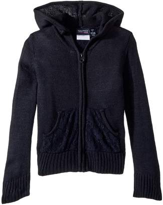 Nautica Lace Pocket Hoodie Sweater Girl's Sweater