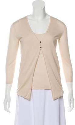 Celine Layered Cashmere & Silk Cardigan