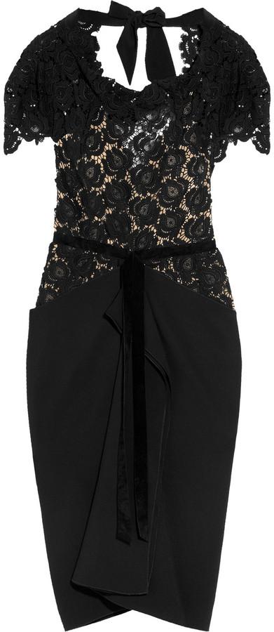 Roland Mouret Harmon lace and crepe dress