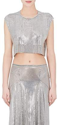 Paco Rabanne Women's Metal Mesh Crop Top