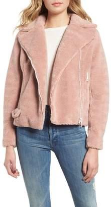 Mother Faux Fur Moto Jacket