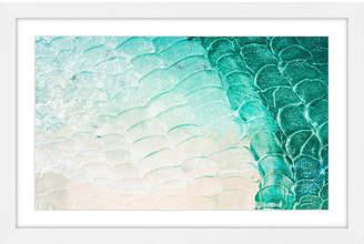 Parvez Taj Aqua Waves Framed Print