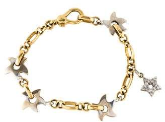 Mattioli 18K Diamond Star Charm Bracelet
