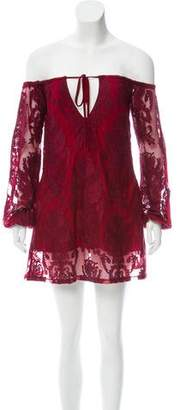 For Love & Lemons Embroidered Mini Dress w/ Tags