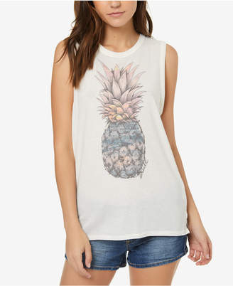 O'Neill Juniors' Cotton Pineapple Graphic-Print T-Shirt