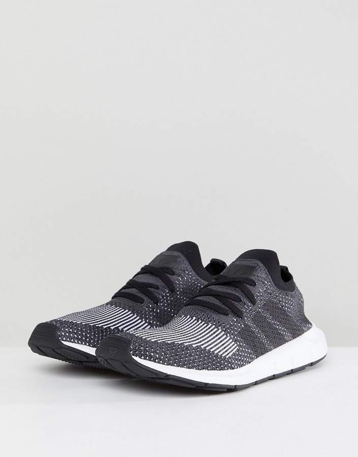 d48478730 adidas Originals Swift Run Primeknit Sneakers In Black detail image