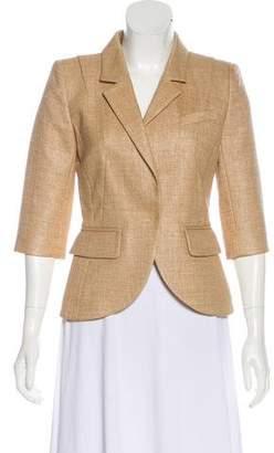 Paule Ka Tweed Single-Breasted Blazer