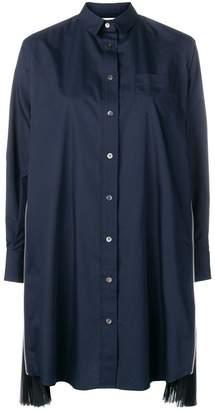 Sacai appliqué oversized shirt