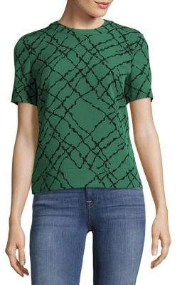 Abstract Printed Crewneck Top $79 thestylecure.com