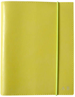 A6 Yellow Leather Journal Font