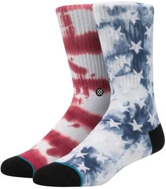 Stance Patriot 2 Tie Dye Cotton Blend Socks