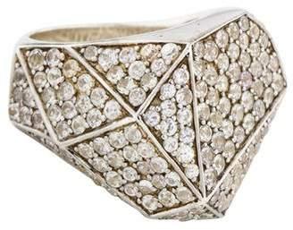 Kara Ross White Sapphire Geometric Ring