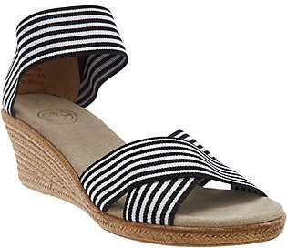Co Charleston Shoe Stretch Wedge Sandals -Cannon