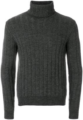 Ami Alexandre Mattiussi Turtleneck Flat Ribbed Sweater