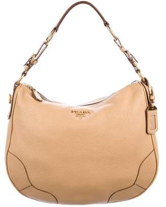 f340339cc13c Pre-Owned at TheRealReal · Prada Vitello Daino Hobo