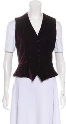 Ralph Lauren Black Label Velvet Button-Up Vest