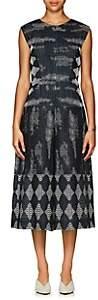 Zero Maria Cornejo Women's Zowie Geometric-Pattern Wide-Leg Jumpsuit - Navy