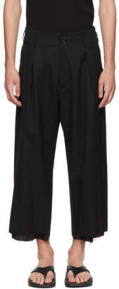 Sulvam Black High-Waisted Trousers