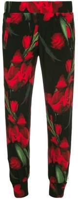 Norma Kamali floral print joggers
