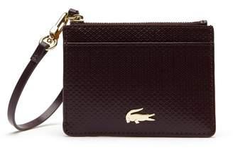 Lacoste Women's Chantaco Bicolor Pique Leather Card Holder