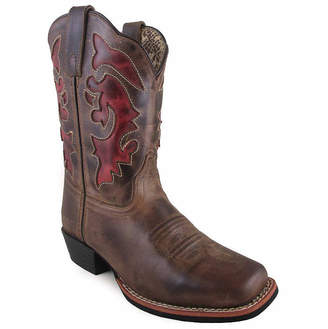 SMOKY MOUNTAIN Smoky Mountain Women's Claire 9 Waxed Distress Leather Cowboy Boot
