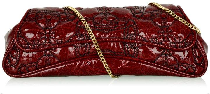 Vivienne Westwood Bordeaux Soho Quilted Baguette Bag