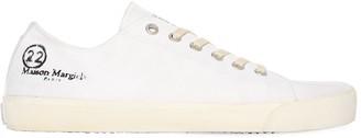 Maison Margiela Tabi Canvas Low Top Sneakers W/ Logo