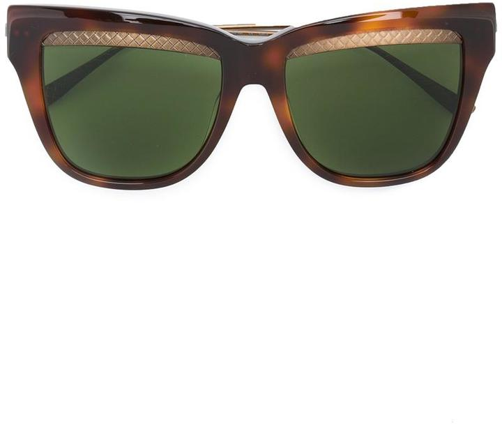 Bottega Veneta Bottega Veneta Eyewear square cat eye sunglasses