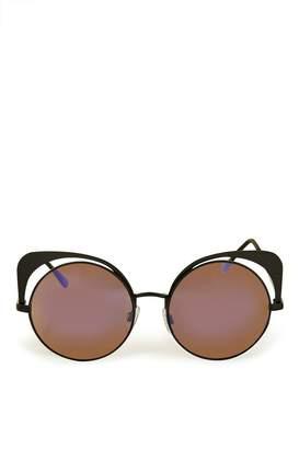 Topshop Metal Mirrored Sunglasses