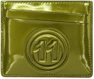Maison Margiela Green Metallic Card Holder