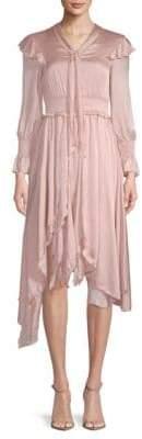 Ruffled Long-Sleeve Dress