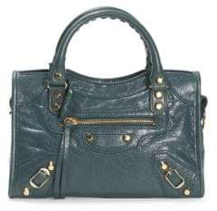 Balenciaga Small City Arena Leather Satchel