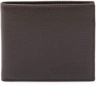 a. testoni Men's Leather Bi-Fold Wallet