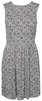 Noisy May Raven Sleeveless Printed Dress